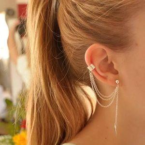 Double Earring Leaf Tassle